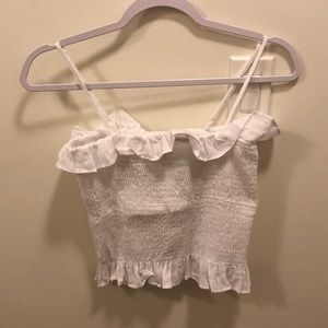 Smocked crop top, brand new with tags
